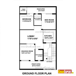 House Plan for 30 Feet by 51 Feet plot (Plot Size 170 Square Yards)