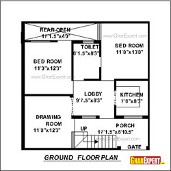 Architectural plans naksha commercial and residential for 100 square feet room size
