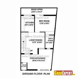 House Plan for 22 Feet by 42 Feet plot (Plot Size 103 Square Yards)