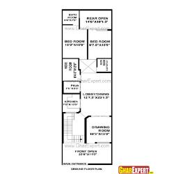 House Plan for 21 Feet by 85 Feet plot (Plot Size 198 Square Yards)