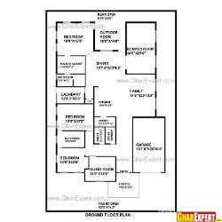 House Plan for 65 Feet by100 Feet plot (Plot Size 722 Square Yards)