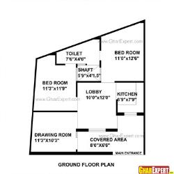 House Plan for 30 Feet by 35 Feet plot (Plot Size 117 Square Yards)