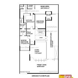 House Plan For 40 Feet By 100 Feet Plot Plot Size 444