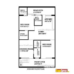 House Plan for 28 Feet by 48 Feet plot (Plot Size 149 Square Yards)