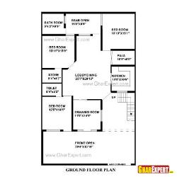 House Plan for 41 Feet by 66 Feet plot (Plot Size 301 Square Yards)