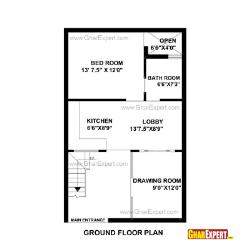 House Plan for 22 Feet by 35 Feet plot (Plot Size 86 Square Yards)