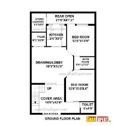 House Plan for 29 Feet by 45 Feet plot (Plot Size 145   Square Yards)