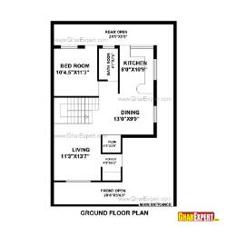 House Plan for 30 Feet by 44 Feet plot (Plot Size 147 Square Yards)
