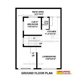 House Plan for 30 Feet by 40 Feet plot (Plot Size 133 Square Yards)