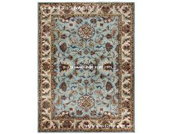 Royal Carpet series - Upscale looking Floral Pattern on sky blue  background with ivory border area Rug