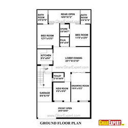 House Plans For 151 To 250 Square Yards  1351 To 2250 Square Feet Plot on 200 square foot house plans