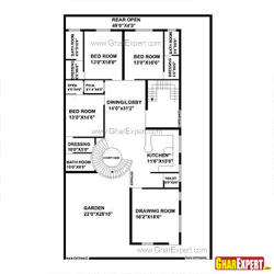 House Plan for 51 Feet by 84 Feet plot (Plot Size 476 Square Yards)