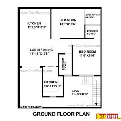 House Plans For 100 To 150 Square Yards  900 To 1350 Square Feet Plot on architectural designs house plans