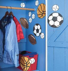 Sporty Ball Room Wall Sticker for Boys Room
