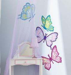 Little butterflies Wall Decal for Girls Room