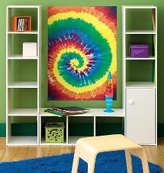 Colorful spiral designer wall sticker