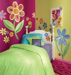 Floral Patterned Wall Sticker for Kids Room