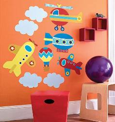 Air Transport Wall Sticker for Kids