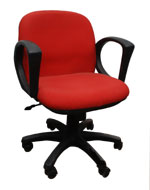 Kris Milano Low  Back Red Fabric Task Chair