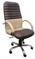 Kris Milano Striped Stiched Executive  Chair