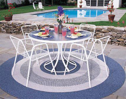 Delightful Round Shape Outdoor Rug