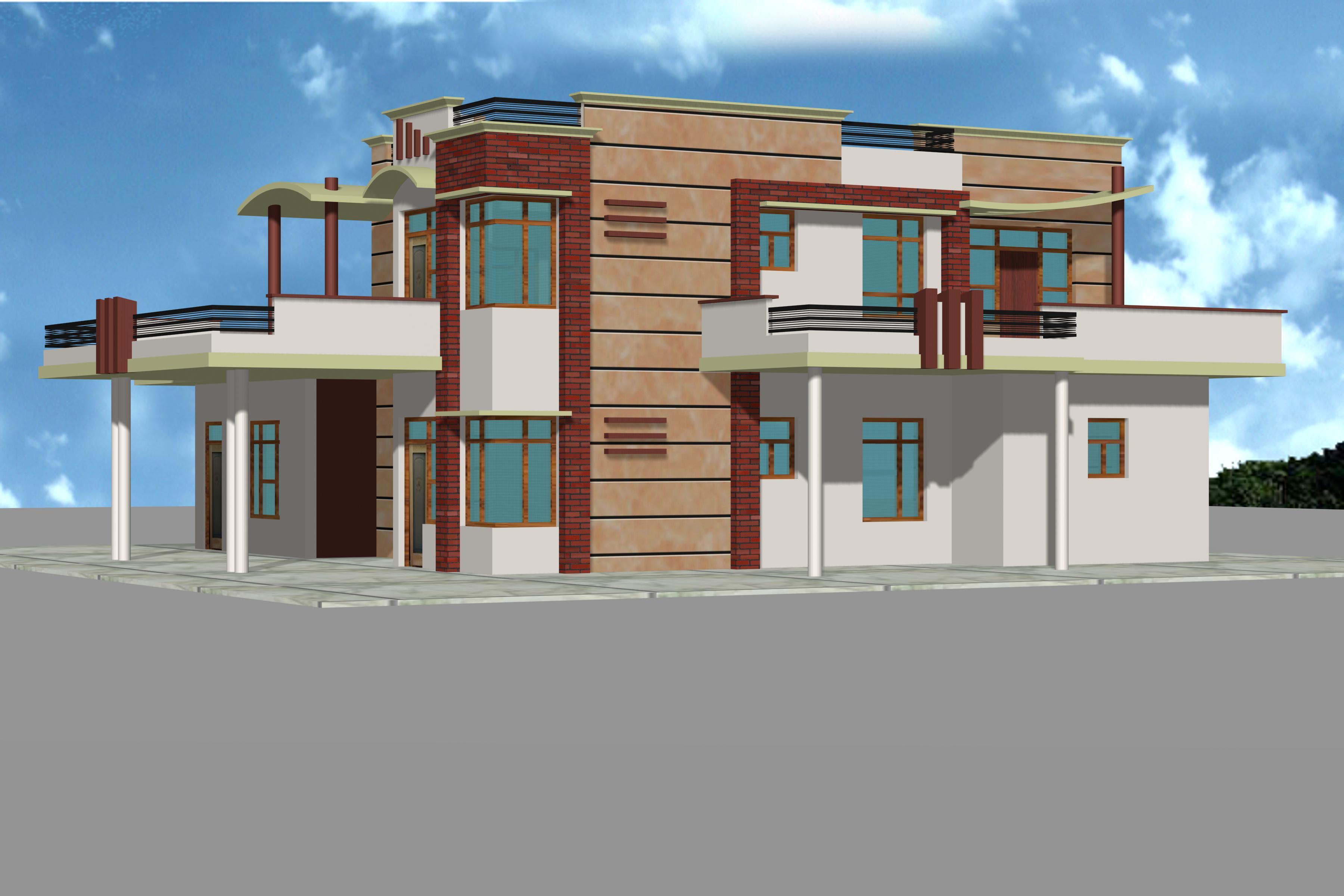 House front elevation tiles india joy studio design for Indian kothi front design
