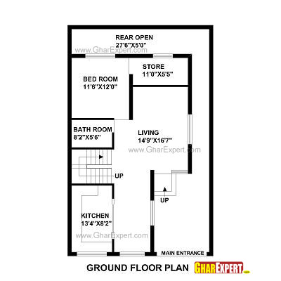 25 X 40 Ranch House Plans additionally 17feet North Face 80feet Long Map furthermore 102767931 as well Our Home likewise Plan For 35 Feet By 50 Feet Plot  Plot Size 195 Square Yards  Plan Code 1317. on 1 bedroom house plans 20 x 30