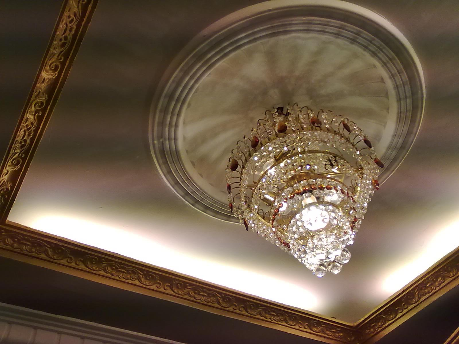 Exotic POP ceiling design with exclusive chandelier and ...