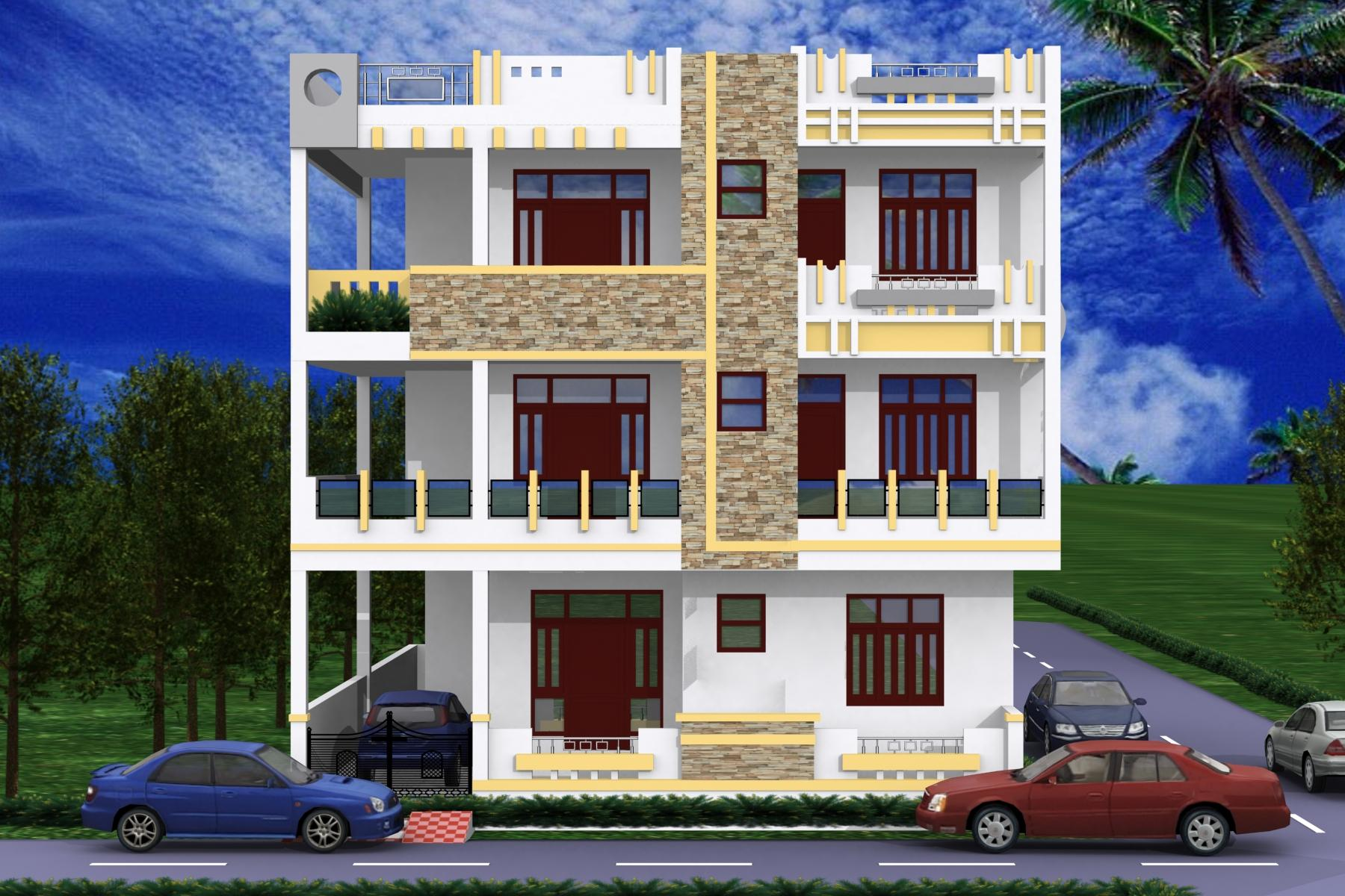 3d house view for Exterior view of house