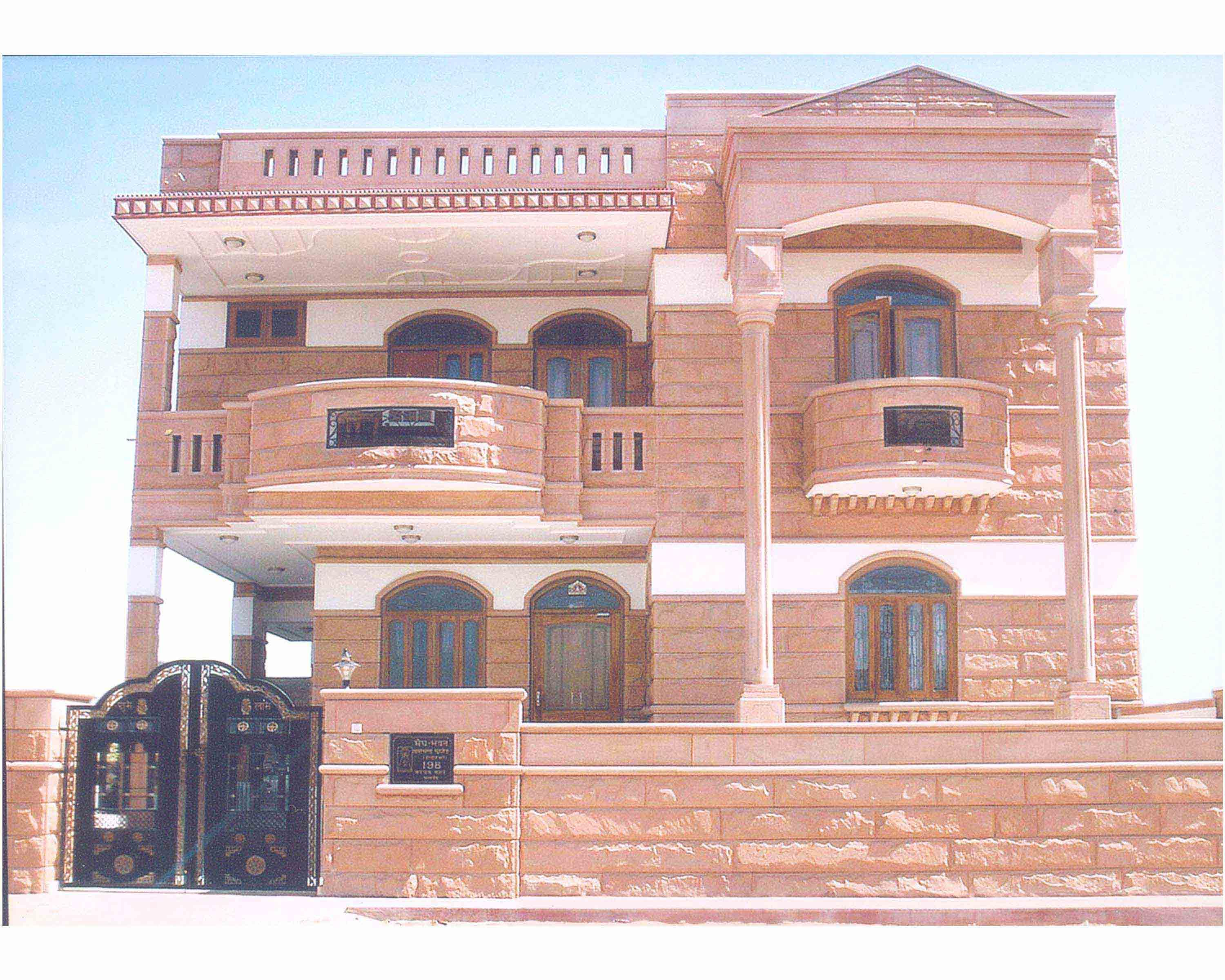 Jodhpur Front Elevation : Jodhpur stone home design awesome