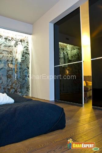 Glass Partition Wall In Bedroom