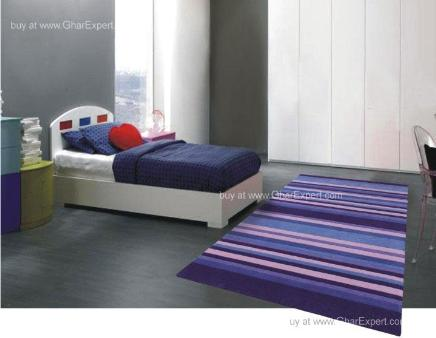 Elegant Carpet series - Smart Striped pattern in shades of blue Cool Area Rug
