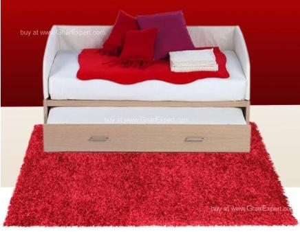 Luxury Carpet series - Bold and hot red  colored  shag rug