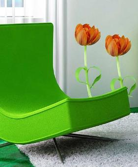 Tulip flower wall decal