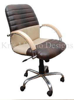 Kris Milano Striped Stitched Task Chair