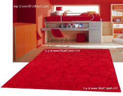 Elegant Carpet series - bold design in red colored bubble pattern  area rug
