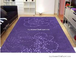 Fantasy Carpet series - Bold and beautiful floral pattern on purple colored Area Rug