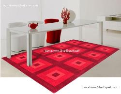 Fantasy Carpet series - Bold and funky hand woven box in box pattern in multi color Area Rug