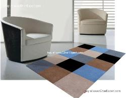 Fantasy Carpet series - Comfortable  hand woven chekerboard pattern in multi color Area Rug