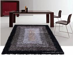 Luxury Carpet series - Ultimate shag rug in the shades of black and grey