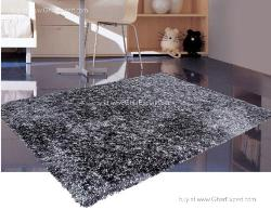 Luxury Carpet series - Elegant  charcoal grey colored shag rug