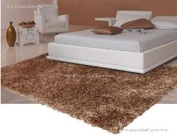Luxury Carpet series - Remarkable shag rug in single  golden color