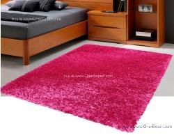 Luxury Carpet series - Cool and bright pink colored  shag rug