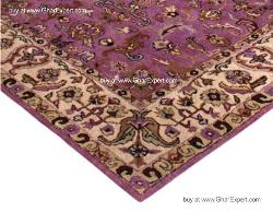 Royal Carpet series - Wonderful warm Floral Pattern on burgundy and beige colored area Rug