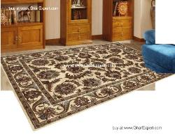 Royal Carpet series - Exceptional Floral Pattern on beige background area Rug
