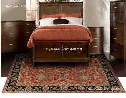 Royal Carpet series - Rich look Floral Pattern on Red with Black border area Rug