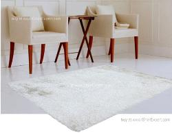 Luxury Carpet series - Soft and sober flokati rug in single  white color