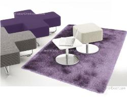 Luxury Carpet series - Lovely  flokati rug in single  purple color