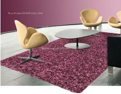 Luxury Carpet series - Remarkable burgundy colored shag rug