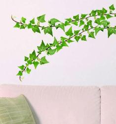 Leafy stem wall sticker